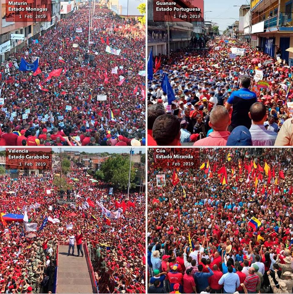 Massive rallies for Maduro held in Venezuela, ignored by war-mongering corporate media