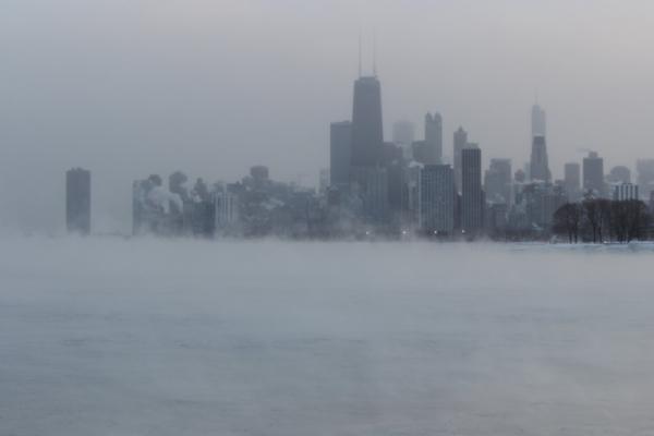 """Foto: """"Chicago durante el vórtice polar"""" por Edward Stojakovic, con la licencia CC BY 2.0. Recorte del original."""