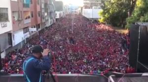 Una manifestacion a favor de Maduro en Monagas. Foto: PSUV