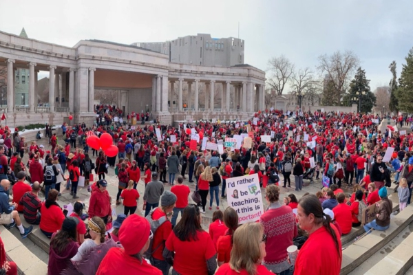 Valentines Day themed rally in Denver, Feb. 13. Liberation photo