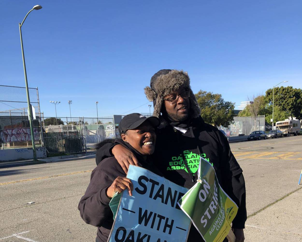Oakland teachers' strike day two: voices from the picket line