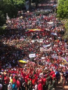 Manifestación en apoyo a la Revolución Bolivariana. Foto: Prensa Presidencial
