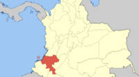 Map of Colombia showing Cauca. Credit: Shadowxfox [CC BY-SA 4.0)