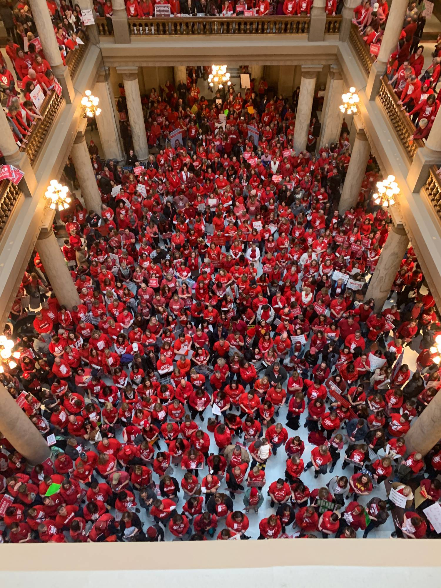 Photo of Red4Ed in Indianapolis: The next state to strike?