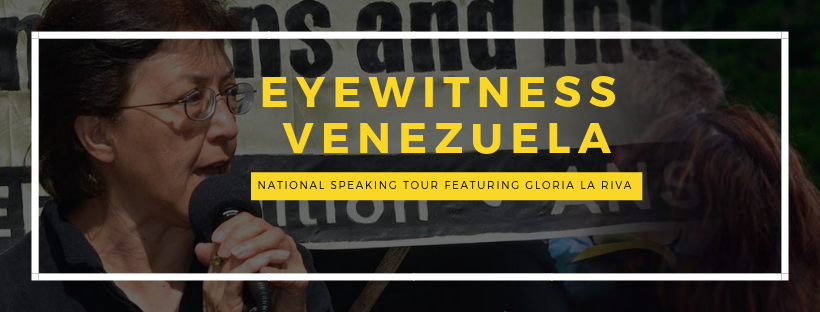 Photo of Eyewitness Venezuela: 40+ City Speaking Tour with Gloria La Riva