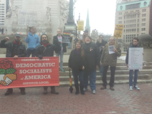 Feb. 23 rally in Indianapolis against the US intervention in Venezuela.