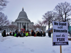 Feb. 23 Madison rally in solidarity with Venezuela as it stands up against imperialist attacks.