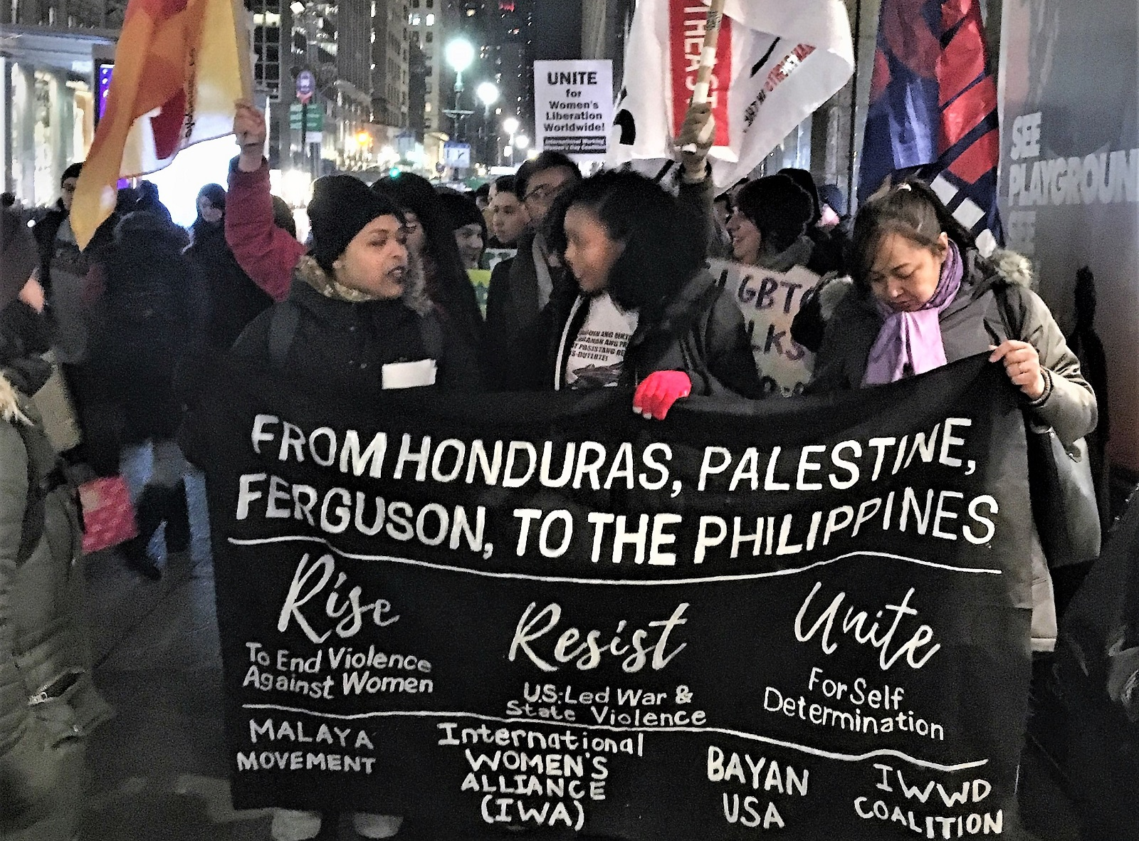 Photo of IWD event shows solidarity with Filipina women