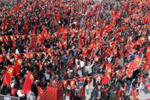 TKP election rally held on March 10 in İstanbul.