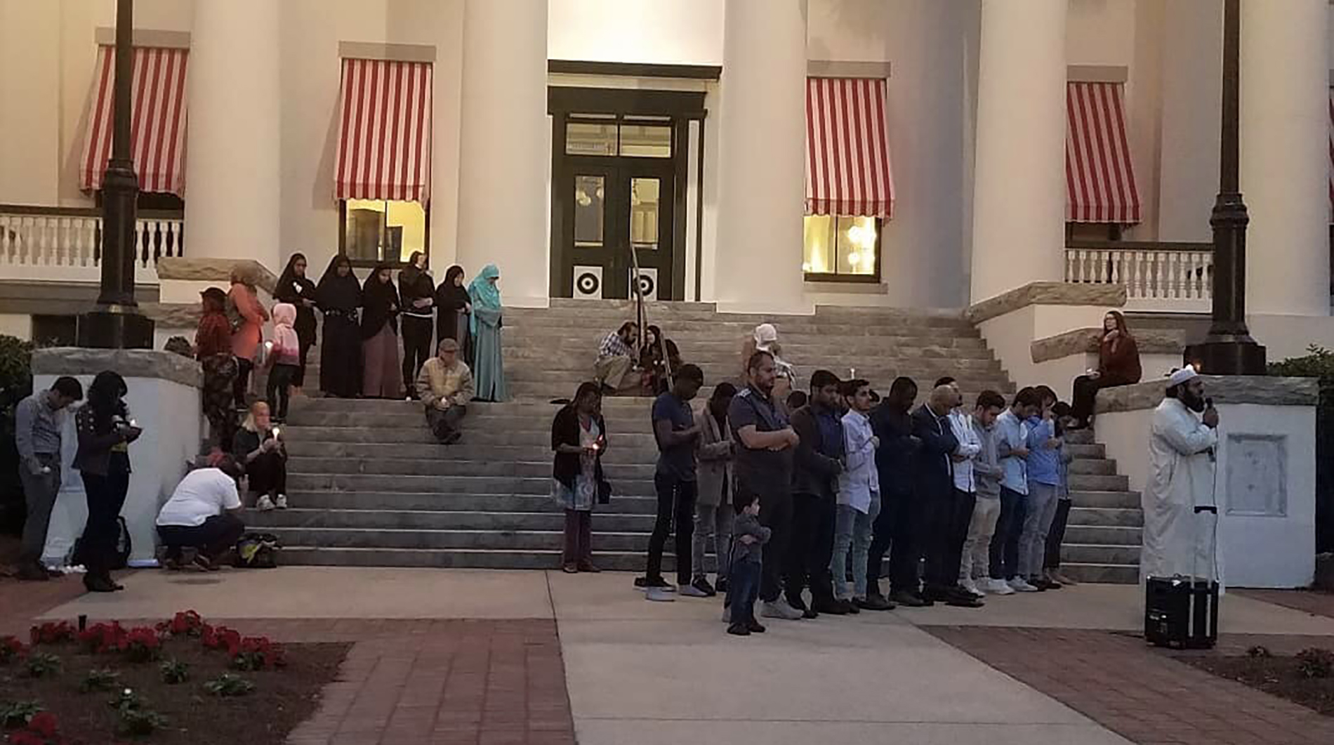 Photo of Islamic Center of Tallahassee and Students For Justice in Palestine hold solidarity vigil honoring Christchurch victims