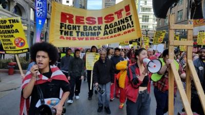 chicago anti-trump demo