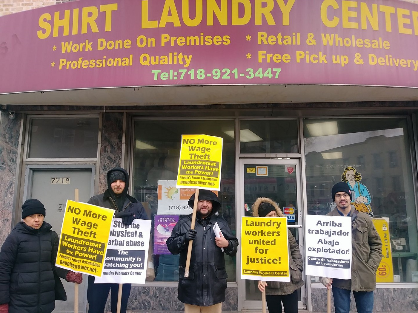 Photo of Brooklyn laundry workers make the boss come clean