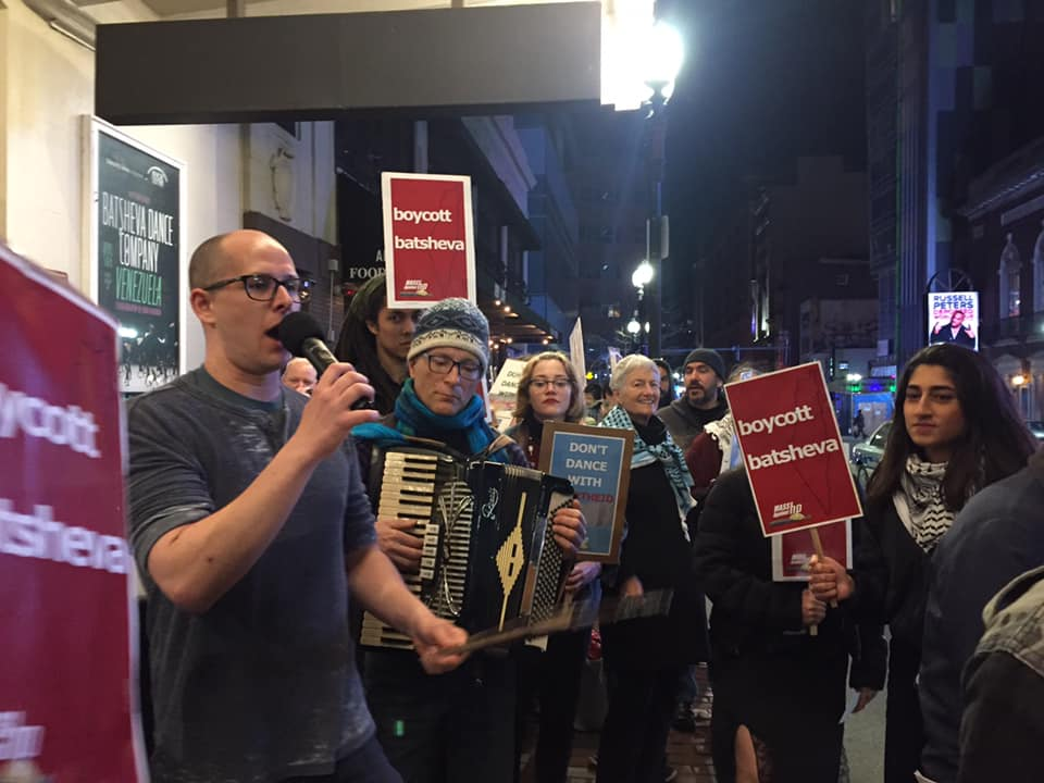 Photo of BDS organizers say 'don't dance with apartheid' in Boston