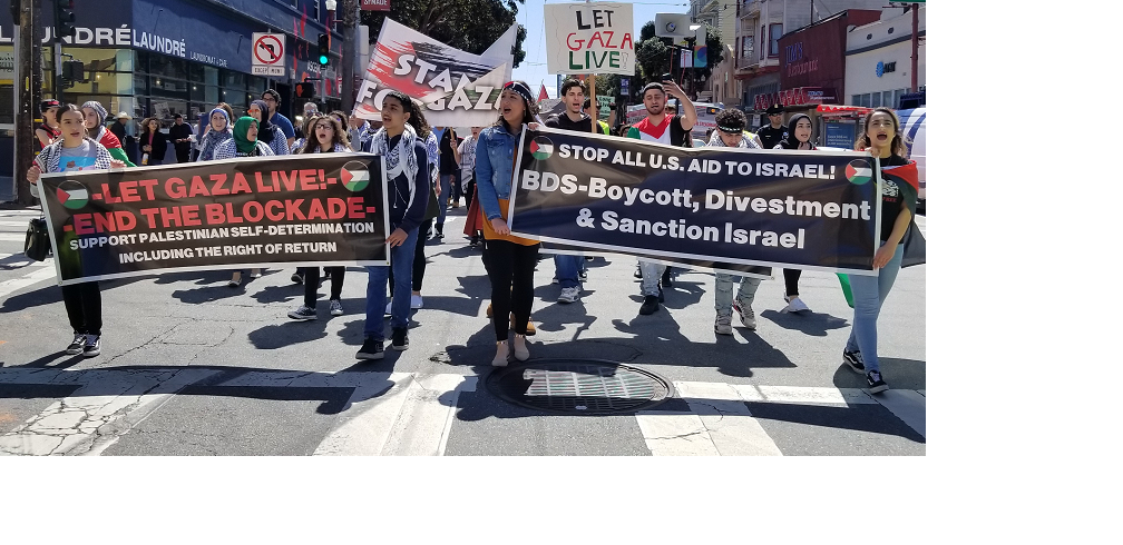 Photo of SF protest shows solidarity with Gaza March of Return
