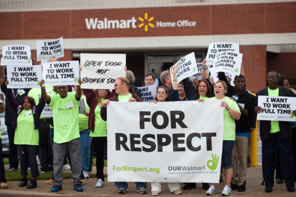 Photo by Marc F. Henning.Our Walmart demonstration Wednesday, Oct. 12, 2011, at the Walmart Home Office in Bentonville, Ark.