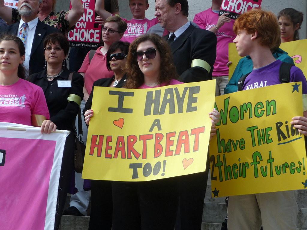 Women have actual heartbeats, demand bodily autonomy