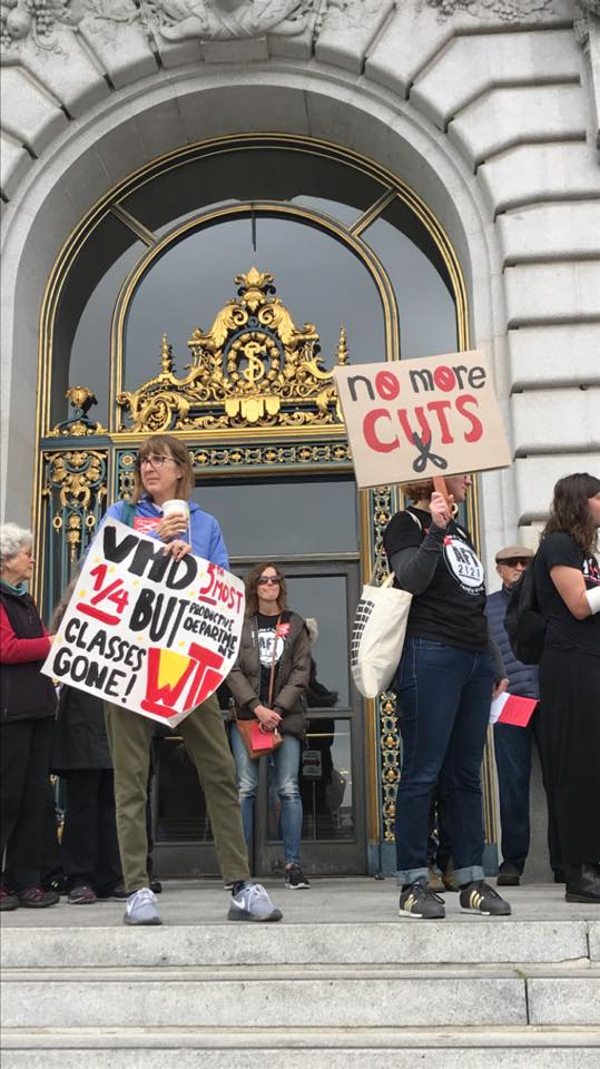 City College of SF students rally against new funding formula