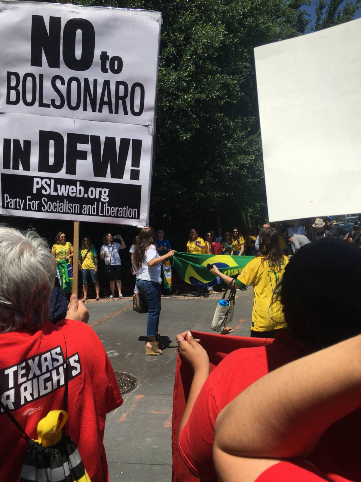 Photo of Dallas protest against Bolsonaro