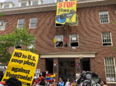The Embassy Protection Collective held their ground for five weeks inside, at the invitation of the Venezuelan government. Federal agents broke down the door on May 16.