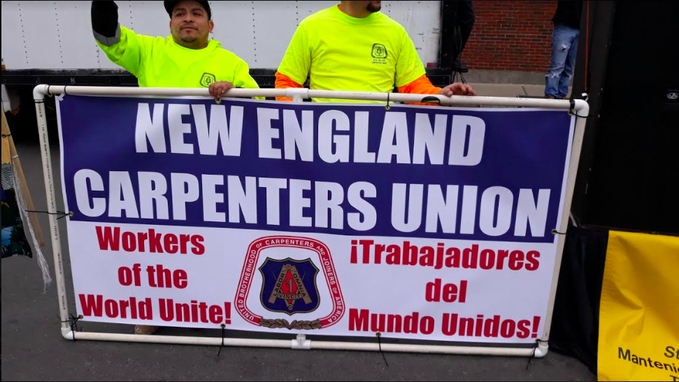 Photo of Workers celebrate May Day across New England