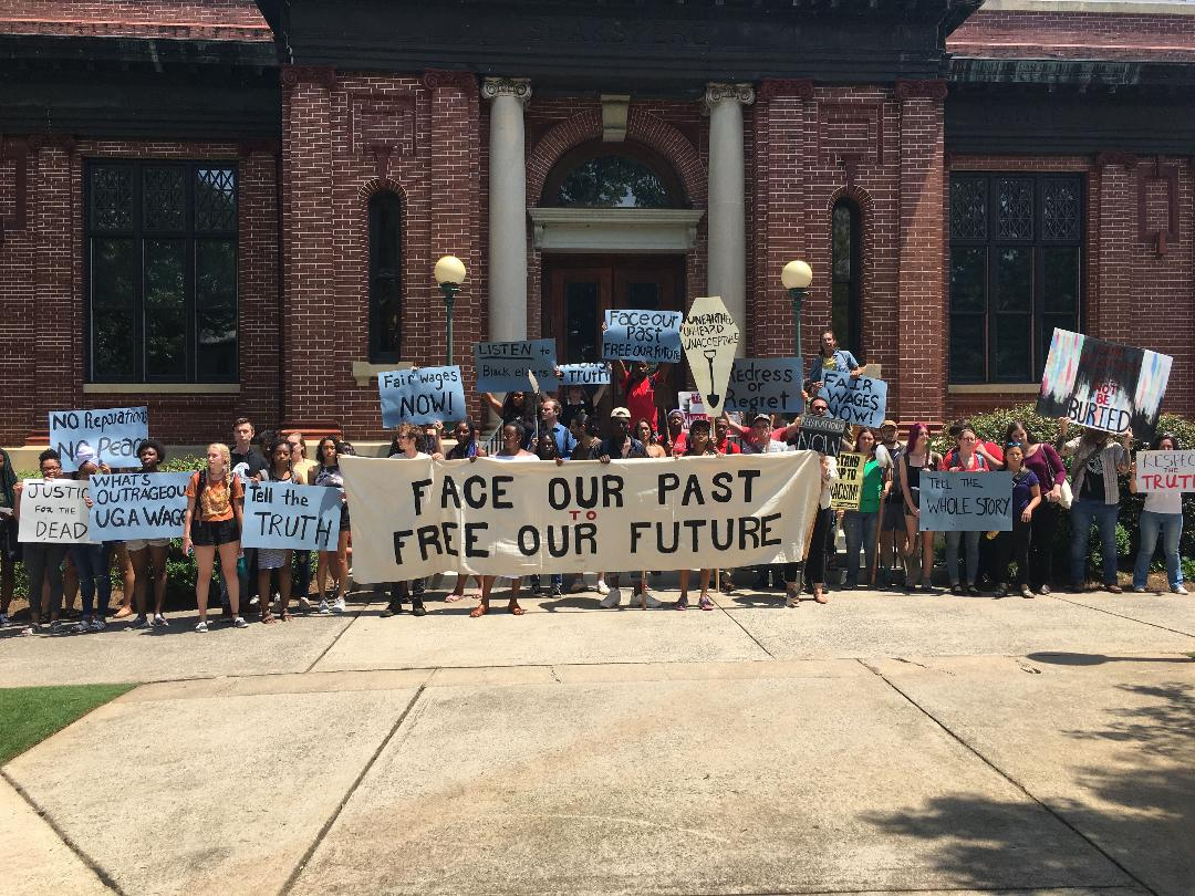 Photo of Students march against University of Georgia's historical and present-day racism
