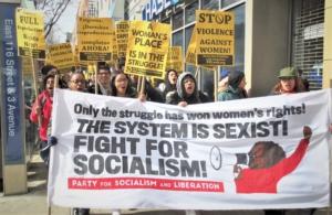 Una marcha por el Día Internacional de la Mujer en East Harlem, Marzo 2018. Foto: Liberation