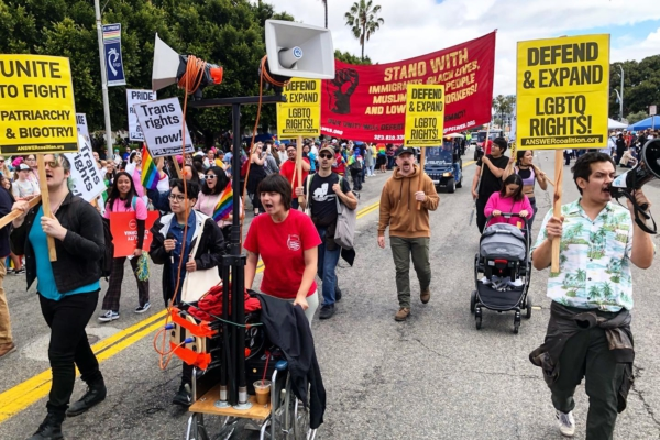 PSL marches at Pride in Long Beach, Calif.