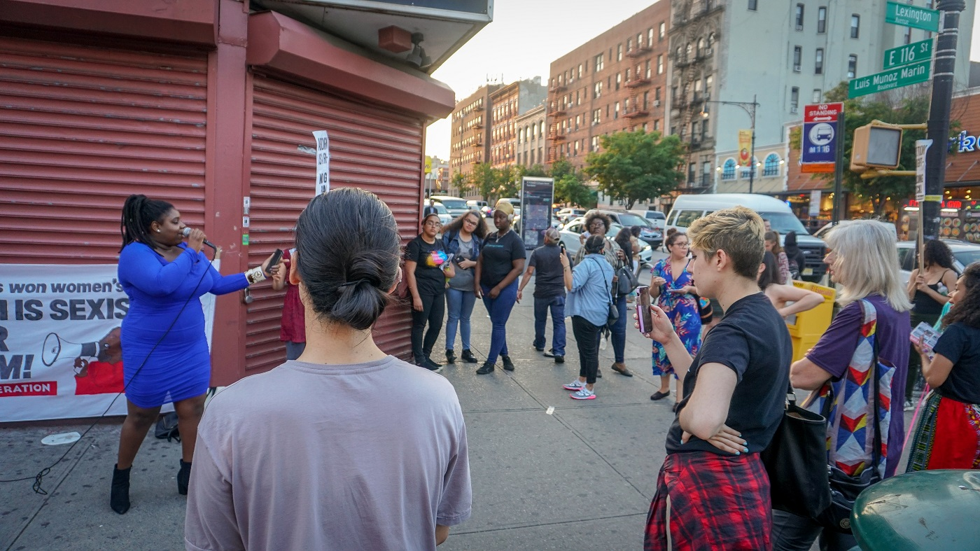 Photo of E Harlem street meeting defends abortion rights