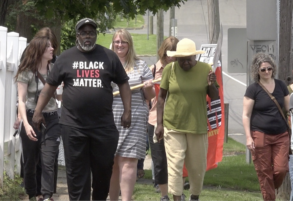 Connecticut activists speak against police violence with a silent march