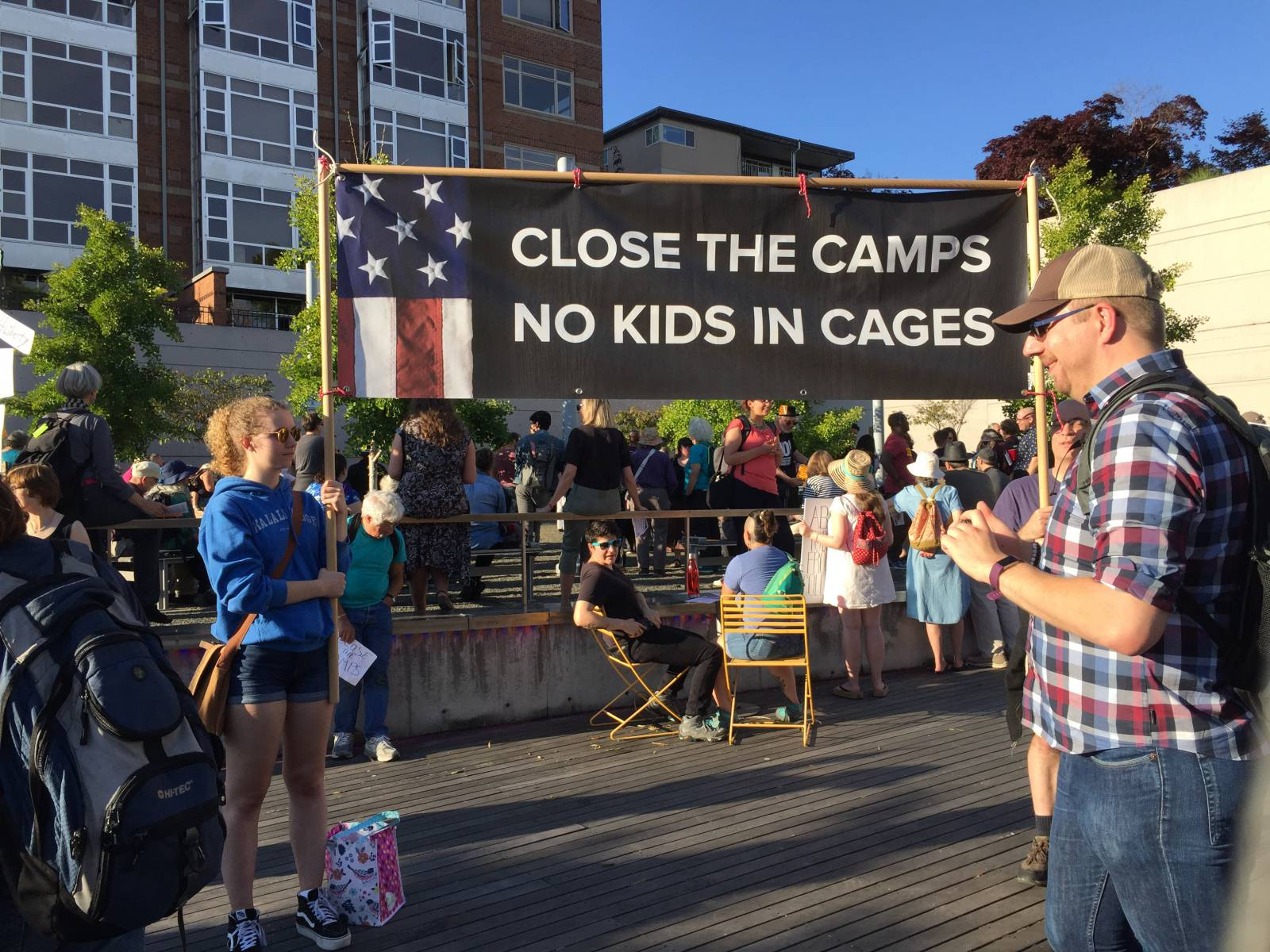 800 US protests: Close the camps, free the children