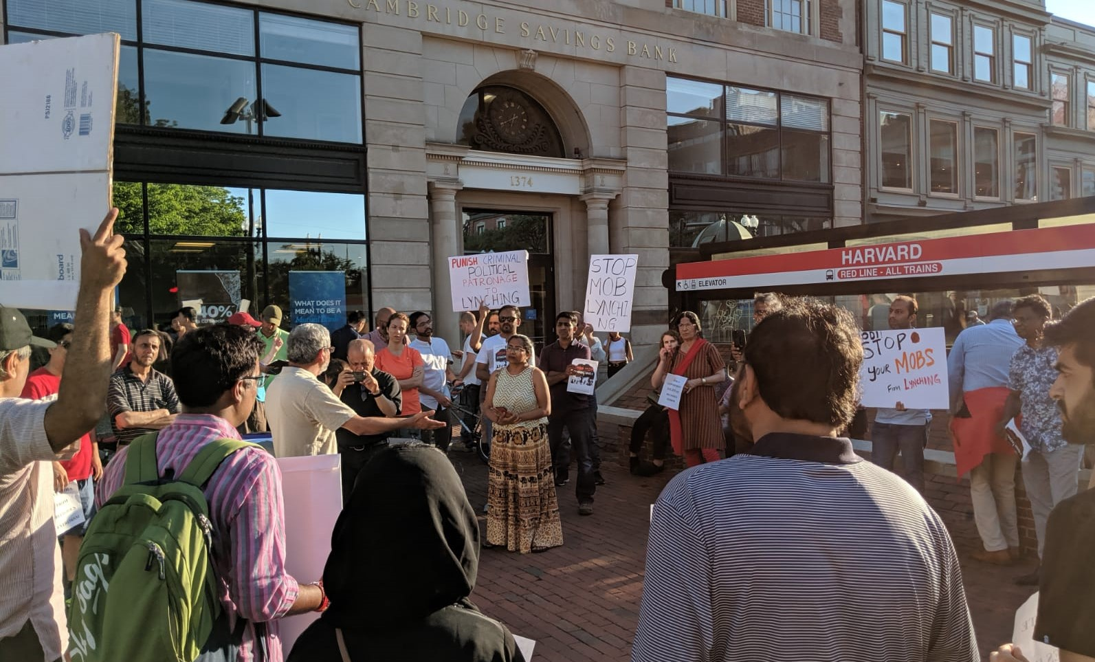 Photo of Rally at Harvard Square condemns mob lynchings in India