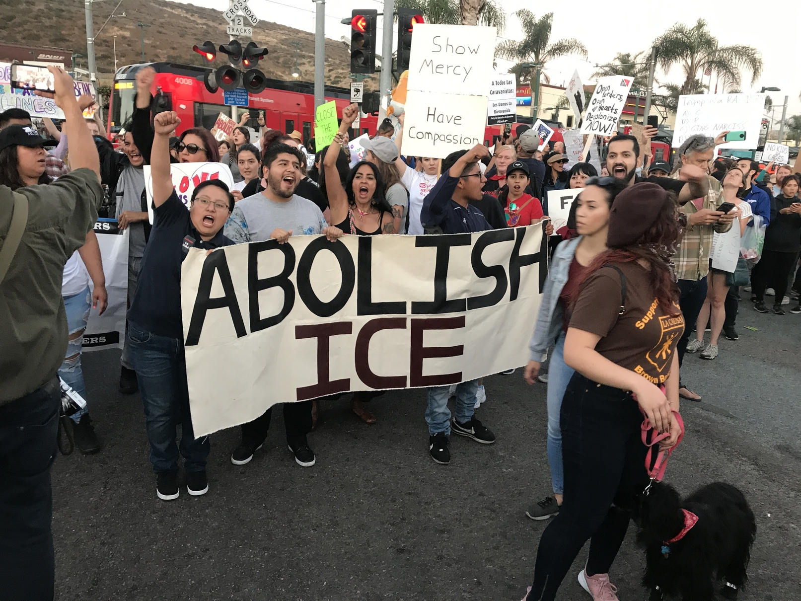 Photo of San Diego residents demand end to migrant concentration camps