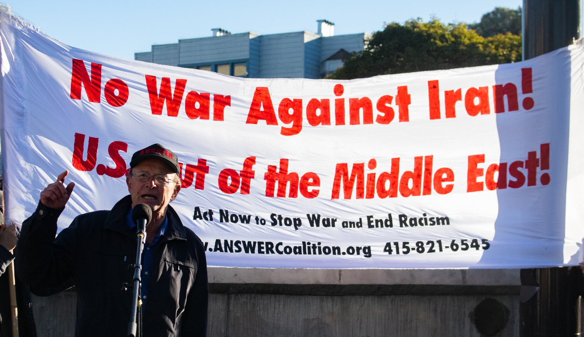 Speak-out in San Francisco demands no war on Iran