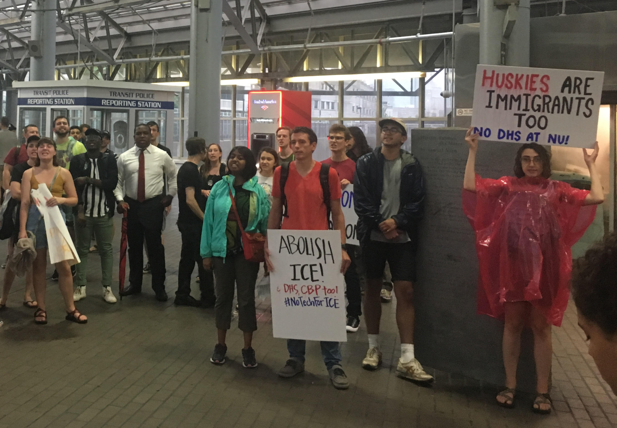 Photo of No Place at Northeastern: students, community members rally against DHS