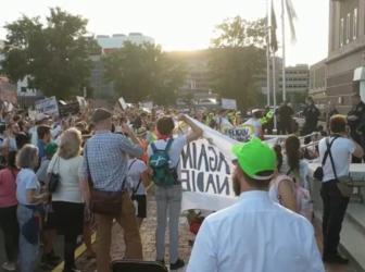 Anti-ICE protest in Boston
