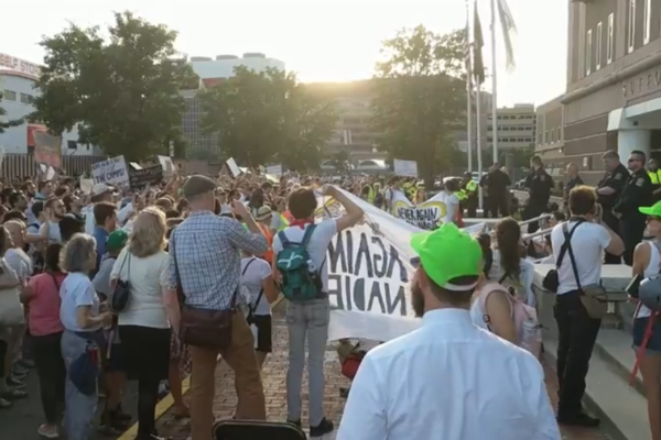 Anti-ICE protest in Boston