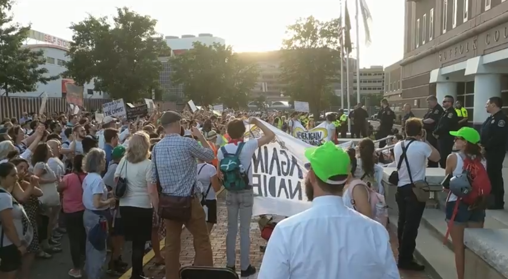 Photo of VIDEO: 18 arrested in protest against ICE concentration camps in Boston