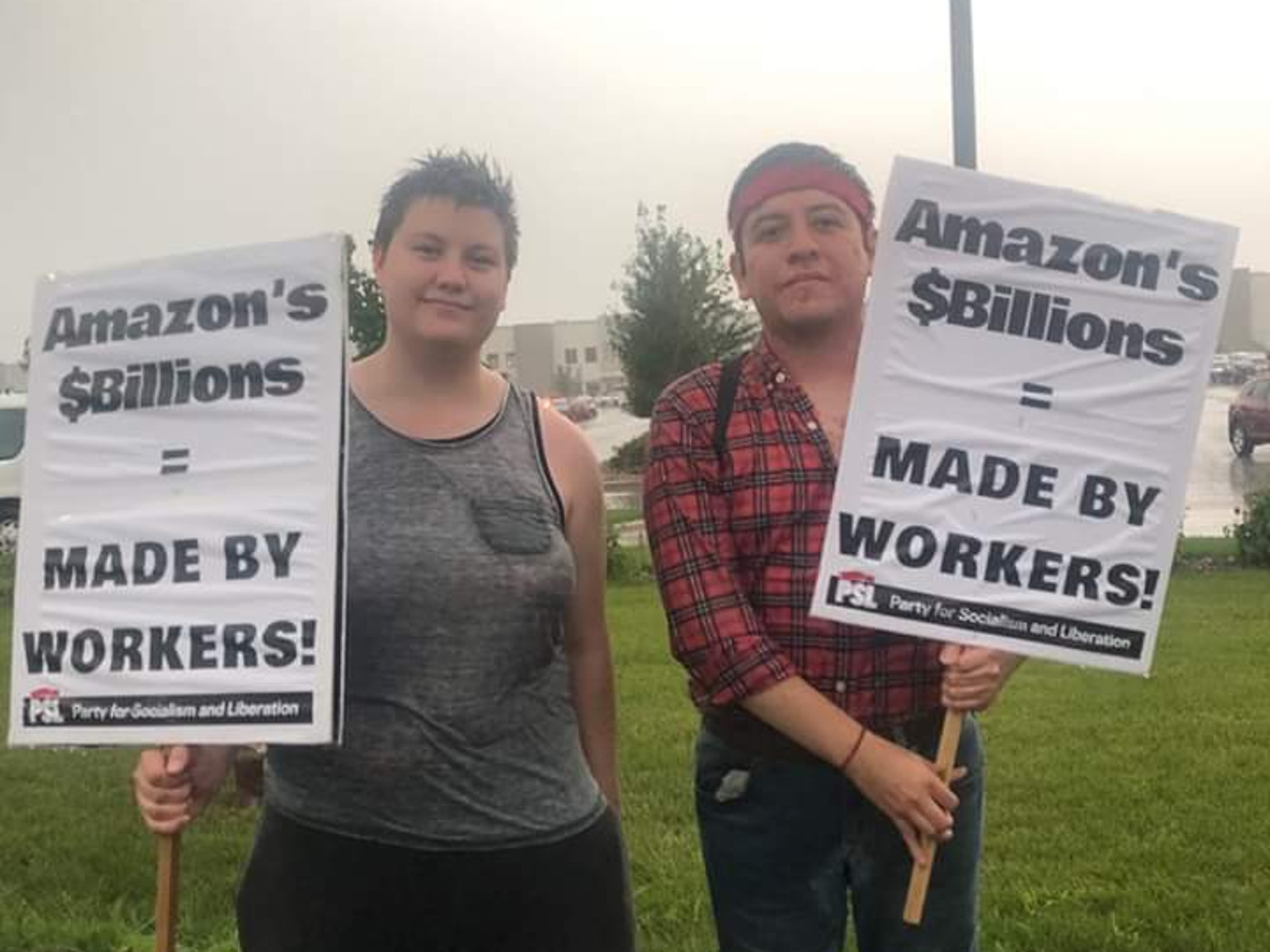 Minnesota Amazon workers strike during Prime Day