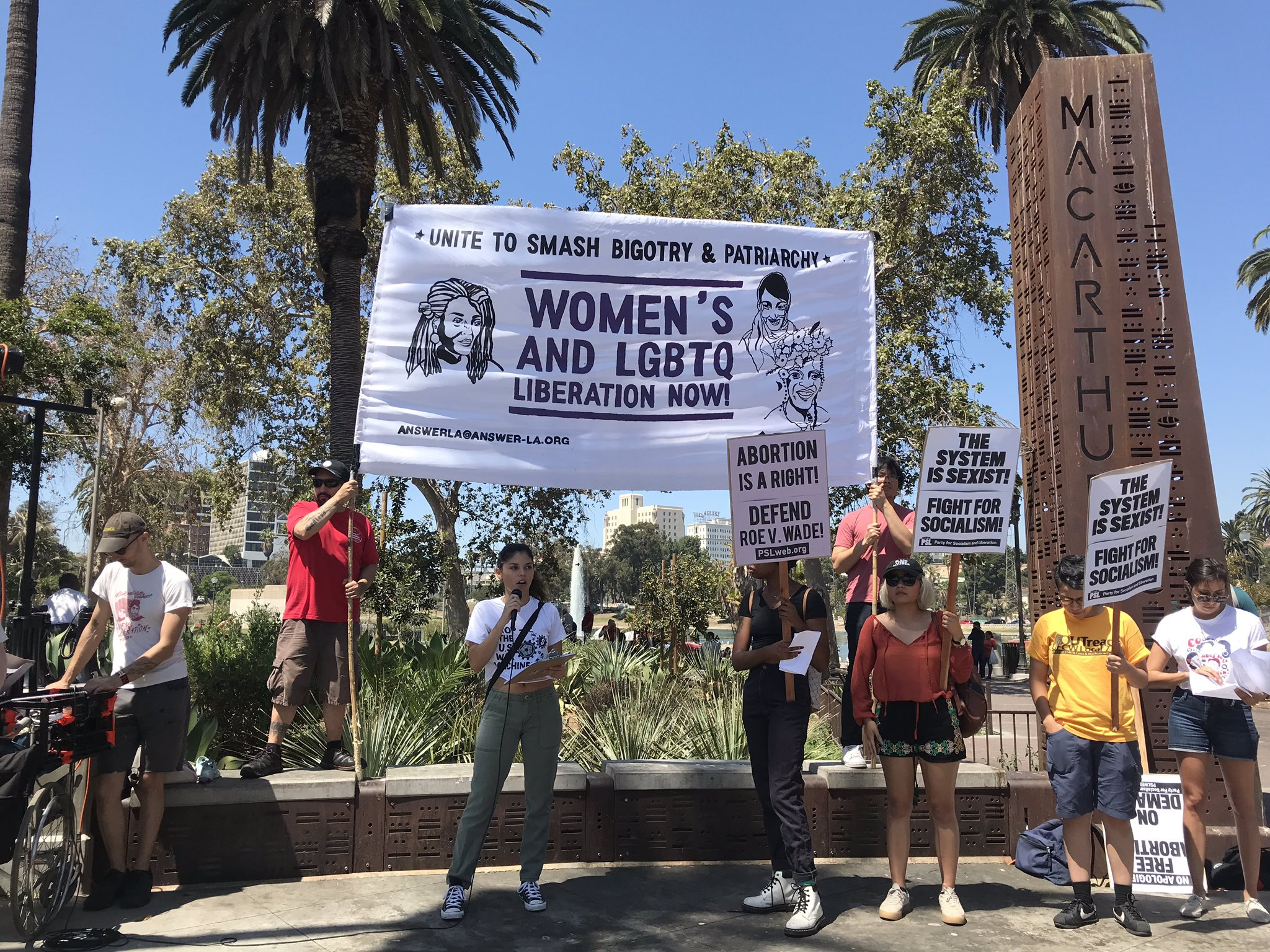Women's Equality Day speak-out and march in Los Angeles