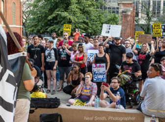 Protesters in Indianapolis on July 25 against police violence. Photo by Neal Smith.