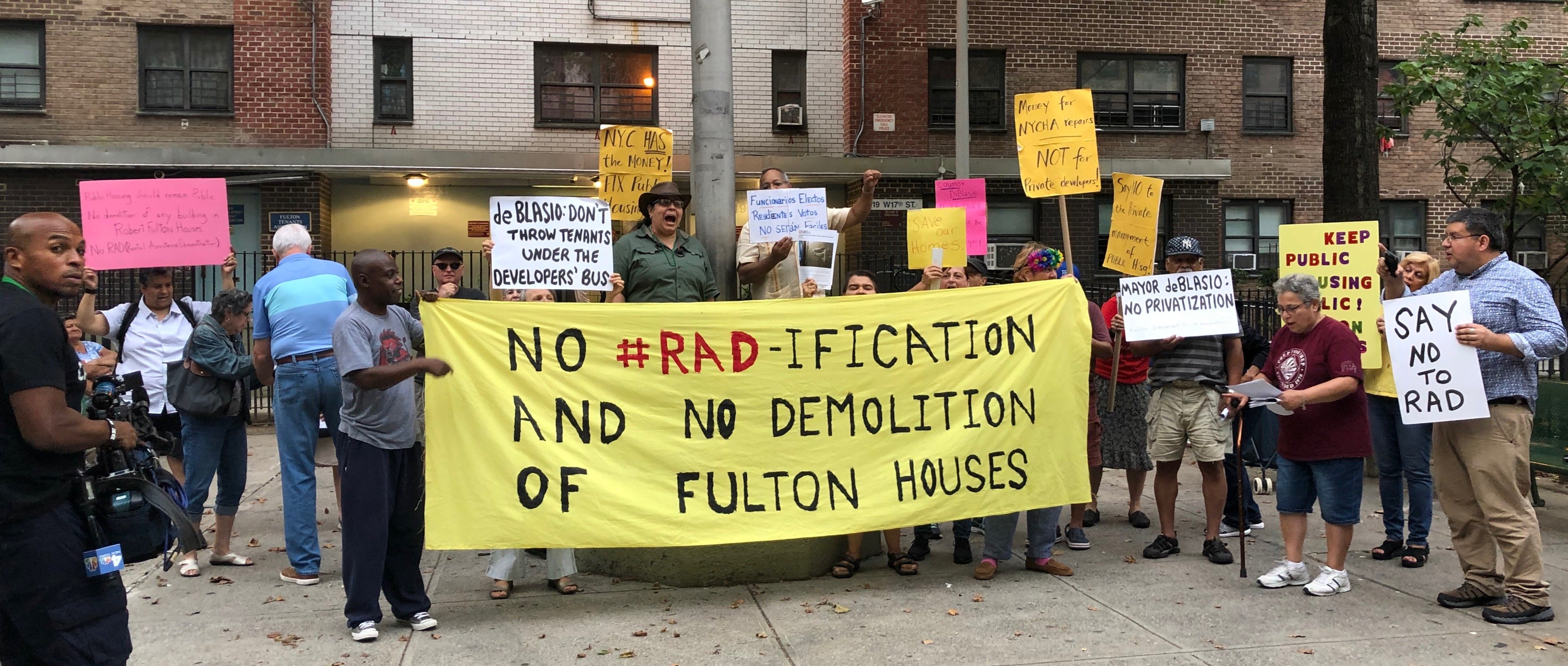 Photo of Fulton public housing tenants: 'Our fight is just beginning!'