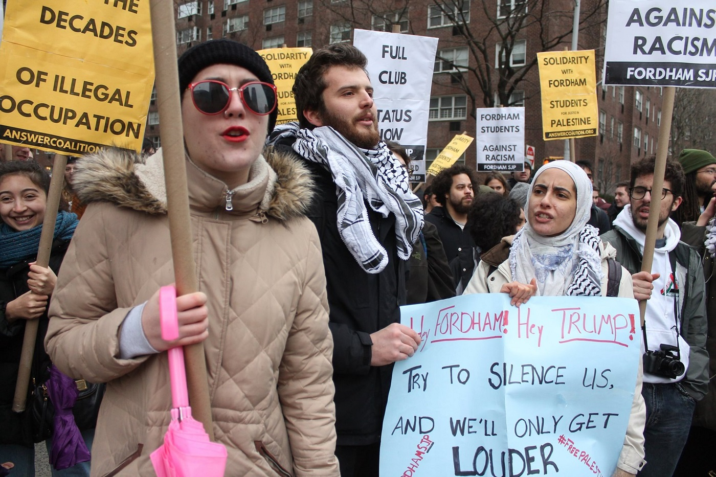 Photo of Fordham U students win fight to have Palestine rights club