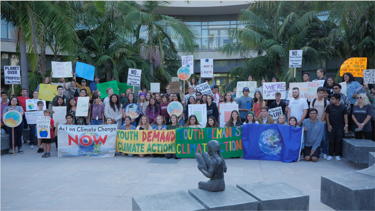Photo of Vista high school students demand climate action