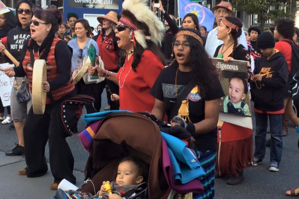 Indigenous People's Day, Seattle, 2015. Liberation photo.