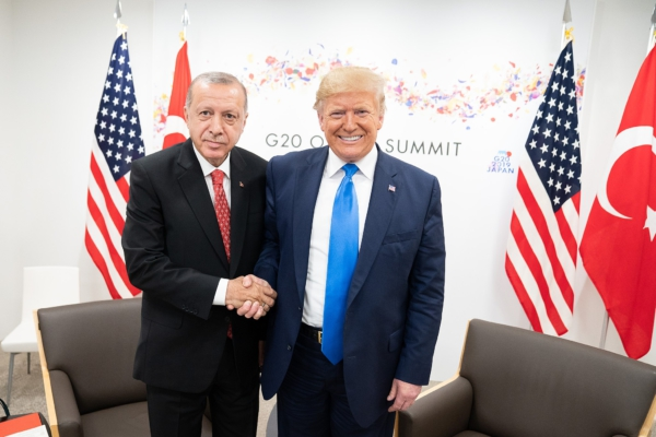 Erdogan and Trump. Public domain image.