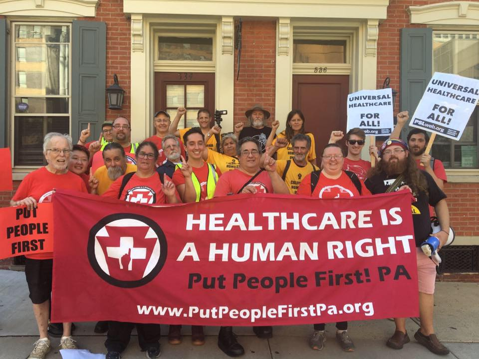 Photo of Lancaster, PA march demands right to healthcare in the face of hospital closure, corporate profiteering