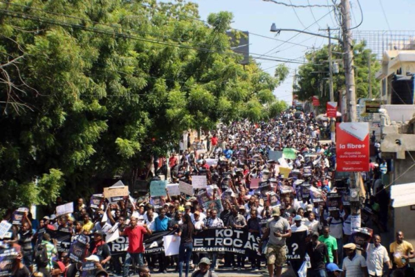 Protesters take to the streets in Haiti. Photo: Wikimedia Commons