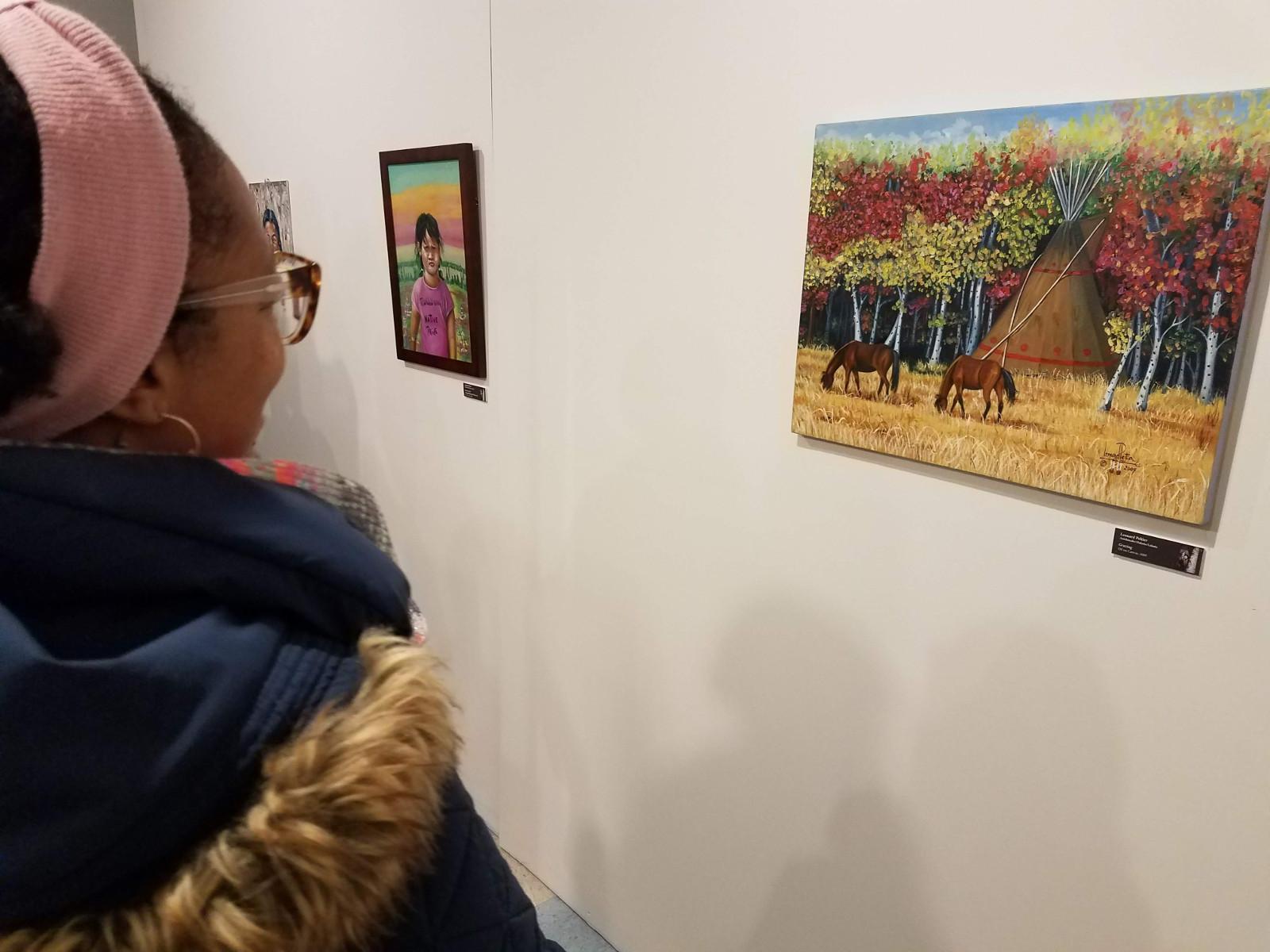 Photo of Exhibition of Leonard Peltier's art opens in Chicago