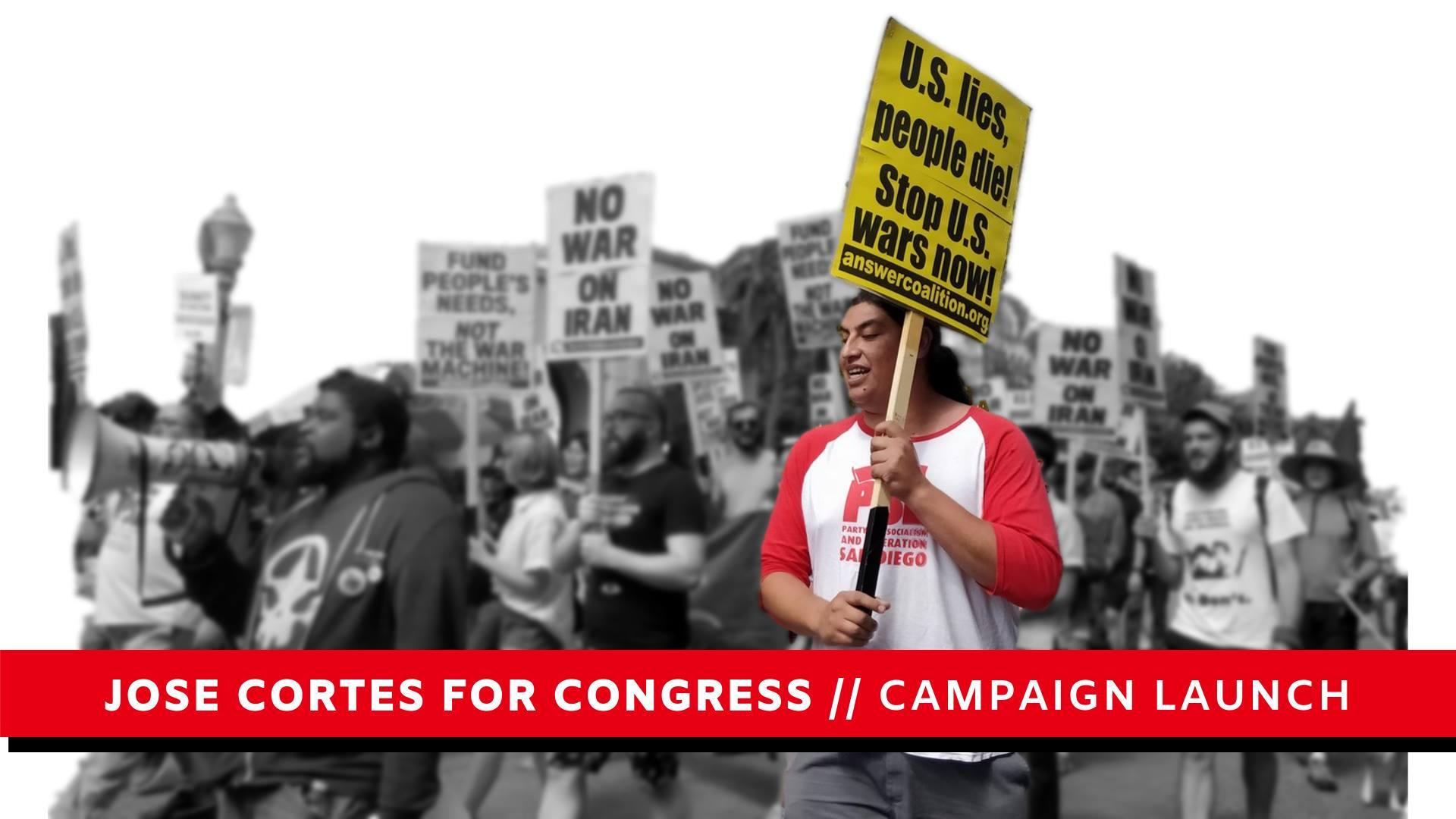 Photo of Socialist José Cortés runs for Congress in San Diego