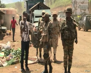 Soldiers in Bamenda. Public domain image.